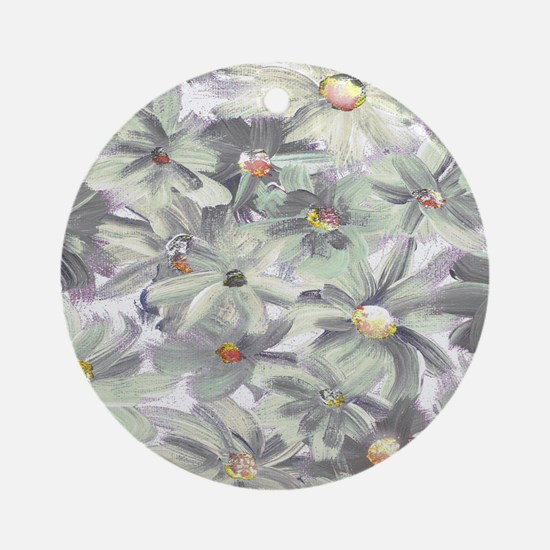 Painted Flowers Round Ornament