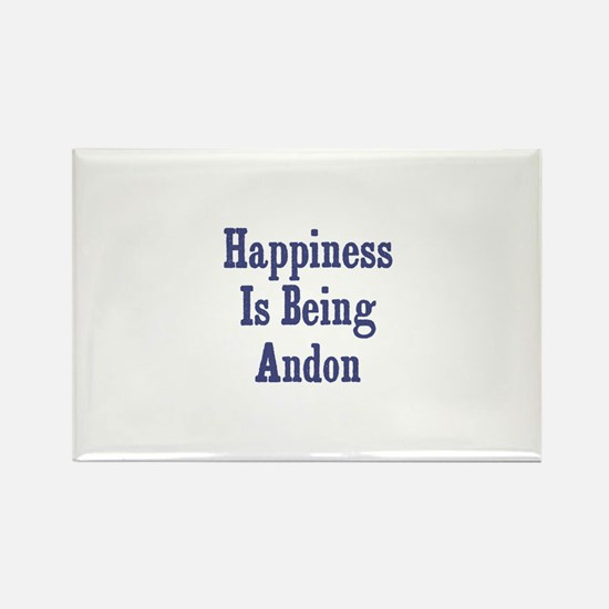 Happiness is being Andon Rectangle Magnet