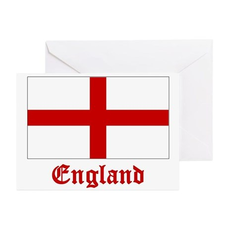England Flag Greeting Cards (Pk of 20)