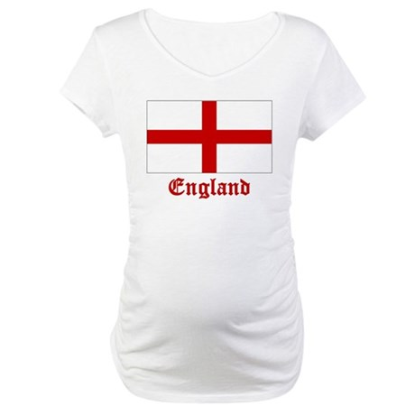 England Flag Maternity T-Shirt