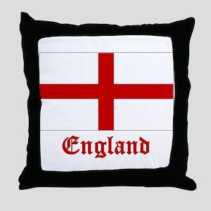 England Flag Throw Pillow