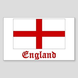 England Flag Rectangle Sticker