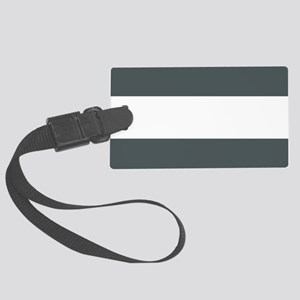 Charcoal Gray Stripes Large Luggage Tag