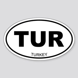 Turkey Oval Sticker