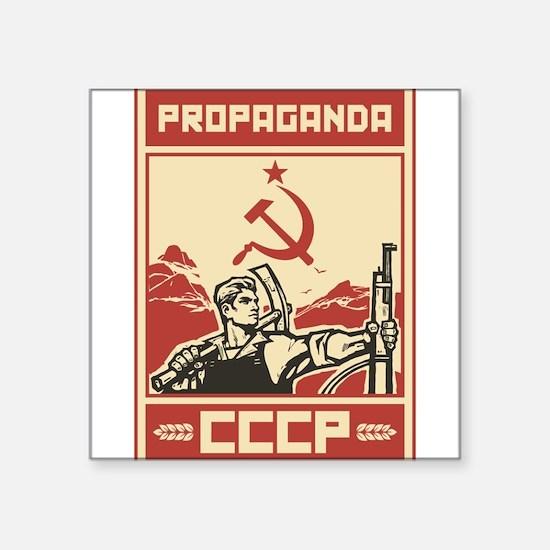 Soviet vintage propaganda Sticker