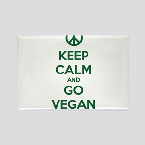 Keep Calm and GO VEGAN Magnets