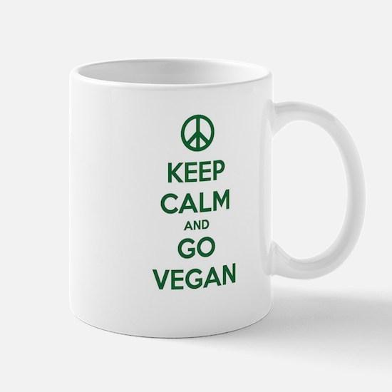 Keep Calm and GO VEGAN Mugs