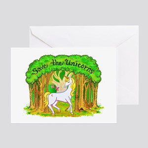 Save the Unicorns Greeting Card