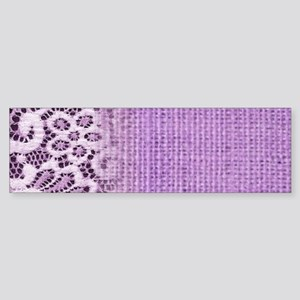 country chic purple burlap lace Bumper Sticker