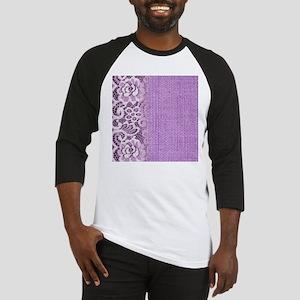 country chic purple burlap lace Baseball Jersey