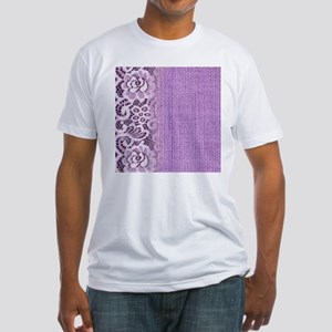 country chic purple burlap lace T-Shirt