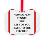 real women sports and gaming joke Ornament