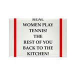 real women sports and gaming joke Magnets