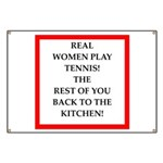 real women sports and gaming joke Banner