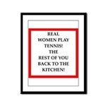 real women sports and gaming joke Framed Panel Pri