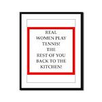 real women sports and gaming joke Framed Panel Pri