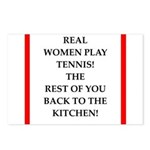 real women sports and gaming joke Postcards (Packa
