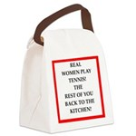 real women sports and gaming joke Canvas Lunch Bag