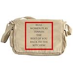 real women sports and gaming joke Messenger Bag