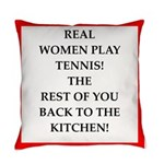 real women sports and gaming joke Everyday Pillow