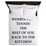 real women sports and gaming joke Queen Duvet