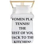 real women sports and gaming joke Twin Duvet