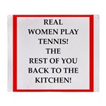 real women sports and gaming joke Throw Blanket