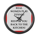 real women sports and gaming joke Large Wall Clock