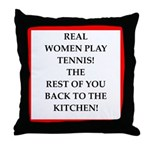 real women sports and gaming joke Throw Pillow