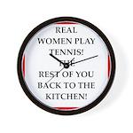 real women sports and gaming joke Wall Clock