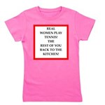real women sports and gaming joke Girl's Tee