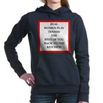 real women sports and gaming joke Women's Hooded S