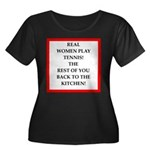 real women sports and gaming joke Plus Size T-Shir
