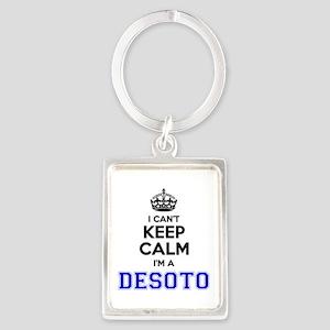 DESOTO I cant keeep calm Keychains
