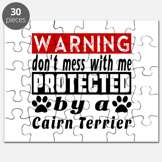 Protected By Cairn Terrier Dog Puzzle