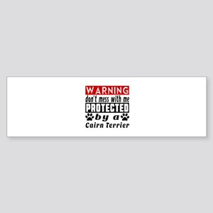 Protected By Cairn Terrier Dog Sticker (Bumper)