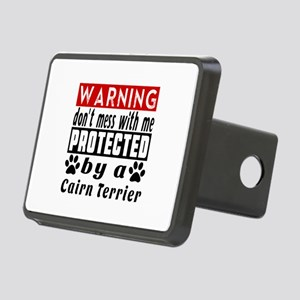 Protected By Cairn Terrier Rectangular Hitch Cover