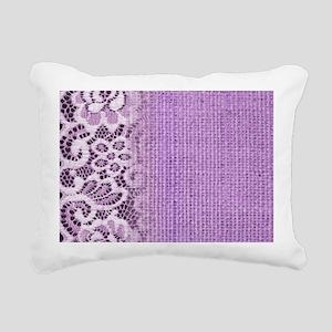 country chic purple burl Rectangular Canvas Pillow
