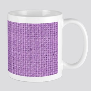 country chic purple burlap lace Mugs