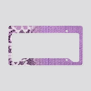 country chic purple burlap la License Plate Holder