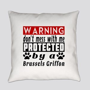 Protected By Brussels Griffon Dog Everyday Pillow