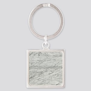 abstract chic white marble Keychains