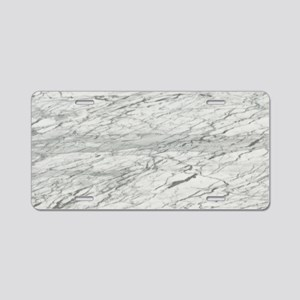abstract chic white marble Aluminum License Plate