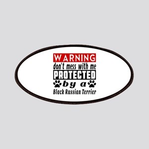 Protected By Black Russian Terrier Dog Patch
