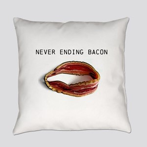 Never ending bacon Everyday Pillow