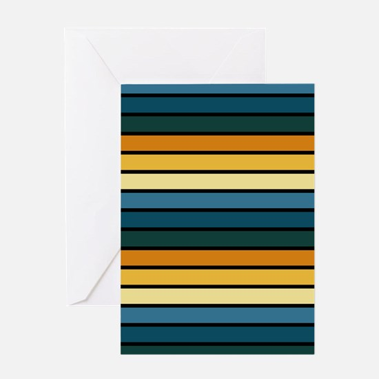 Multicolored Stripes: Blue, Teal, Or Greeting Card