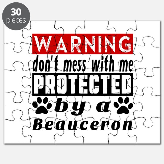 Protected By Beauceron Dog Puzzle