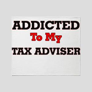 Addicted to my Tax Adviser Throw Blanket