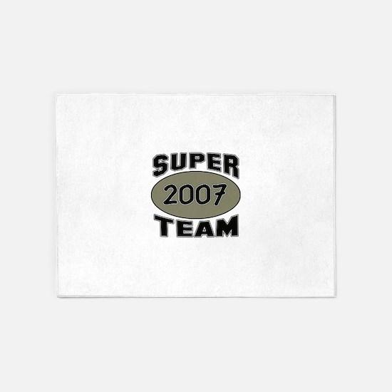 Super Team 2007 5'x7'Area Rug