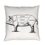 Tasty Pig Everyday Pillow